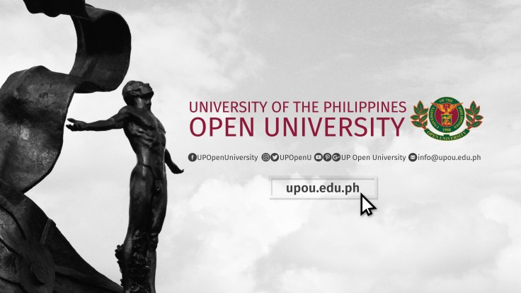 UPOU Banner with Social Media Sites