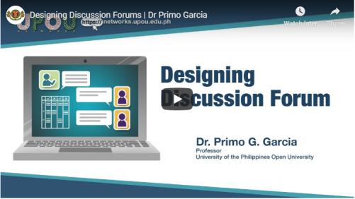 Designing Discussion Forum