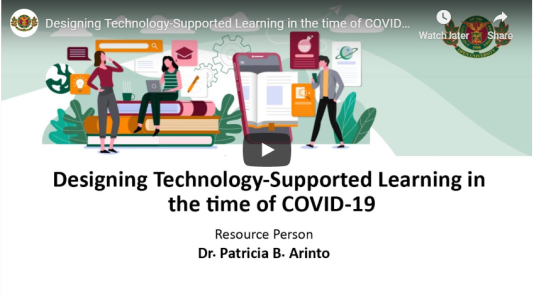 Designing Technology-Supported Learning in the time of COVID-19