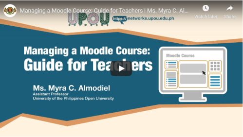 Managing a Moodle Course