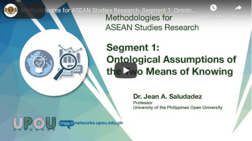 Methodologies for ASEAN Studies Research – Segment 1