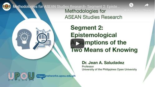 Methodologies for ASEAN Studies Research – Segment 2