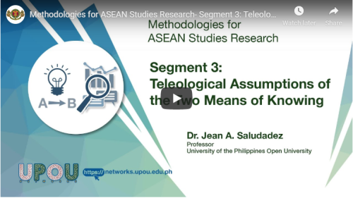 Methodologies for ASEAN Studies Research – Segment 3