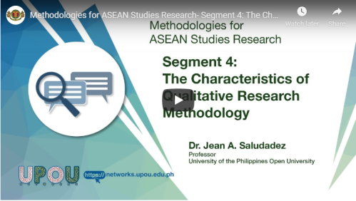 Methodologies for ASEAN Studies Research – Segment 4