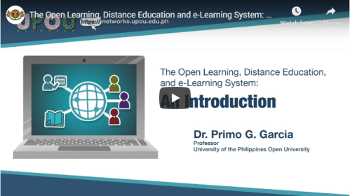 Open Learning, Distance Education, and e-Learning