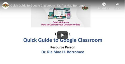 Quick Guide to Google Classroom