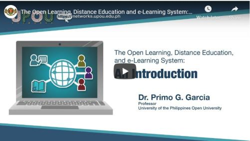 The Open Learning, Distance Education, and e-Learning System